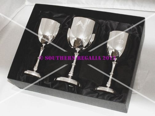Silverplated Goblets [set of 3]