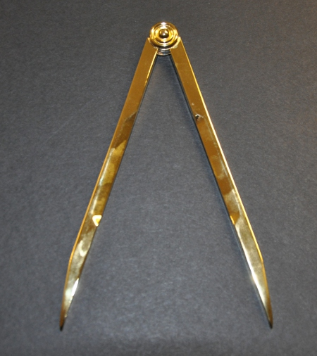 Craft Working Tool - Compasses - Gilt