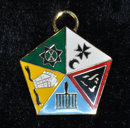 Allied Masonic Degree - Past Masters Collarette Jewel