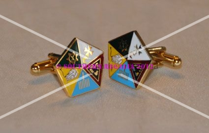 Allied Degree Gold Plated & Enamel Cufflinks