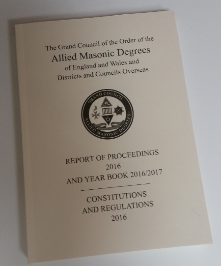 Allied Masonic Degrees - Constitutions & Regulations (2016-2017)