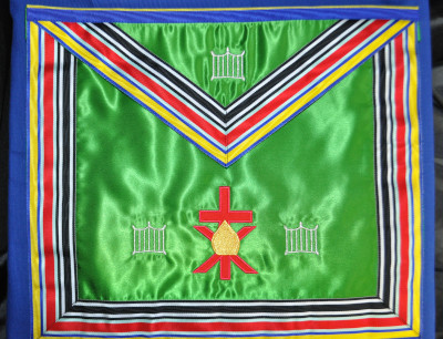 Allied Masonic Degrees - Past Masters Apron (Cornwall District)