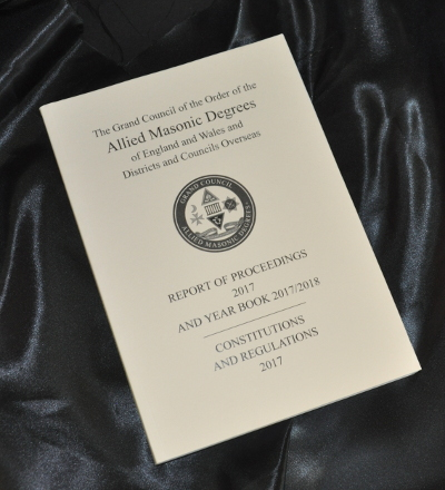 Allied Masonic Degrees - Constitutions & Regulations (2017-2018)