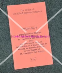 Allied - Ritual No. 6 - Installation of WM of St. Lawrence
