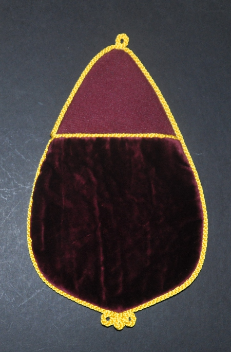 Red Cross of Constantine Alms Bag with Embroidered Number -Maroon
