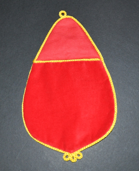 Knights Templar Alms Bag with Embroidered Number
