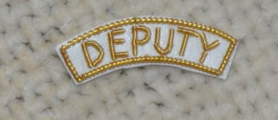 "Provincial Apron Badge Appendage - DRESS - ""DEPUTY"""
