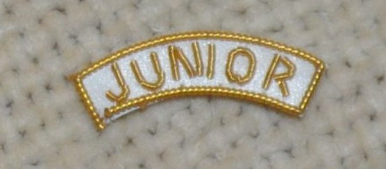 "Provincial Apron Badge Appendage - DRESS - ""JUNIOR"""