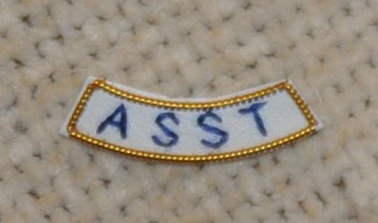 "Provincial Apron Badge Appendage - UNDRESS - ""ASST"""
