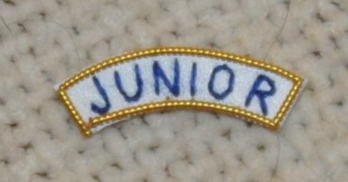 "Provincial Apron Badge Appendage - UNDRESS - ""JUNIOR"""