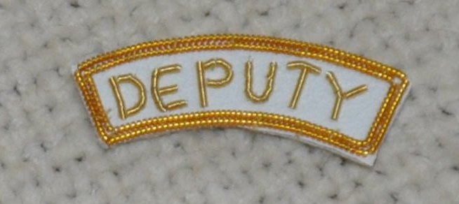 "Grand Officers Badge Appendage - DRESS - ""DEPUTY"""