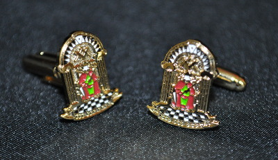 Order of Athelstan Enamel & Gold Plated Cufflinks