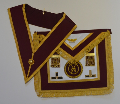 Order of Athelstan Provincial Apron & Badge with Collar set (No Jewel)
