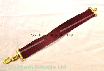 Apron Belt Extension - Maroon with Gold fittings
