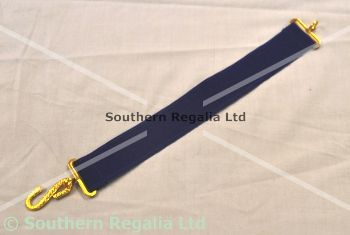 Apron Belt Extension - Dark Blue with Gold fittings