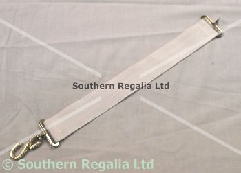Apron Belt Extension - White with Silver fittings