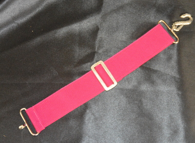 Apron Belt Extension - Magenta with Silver fittings