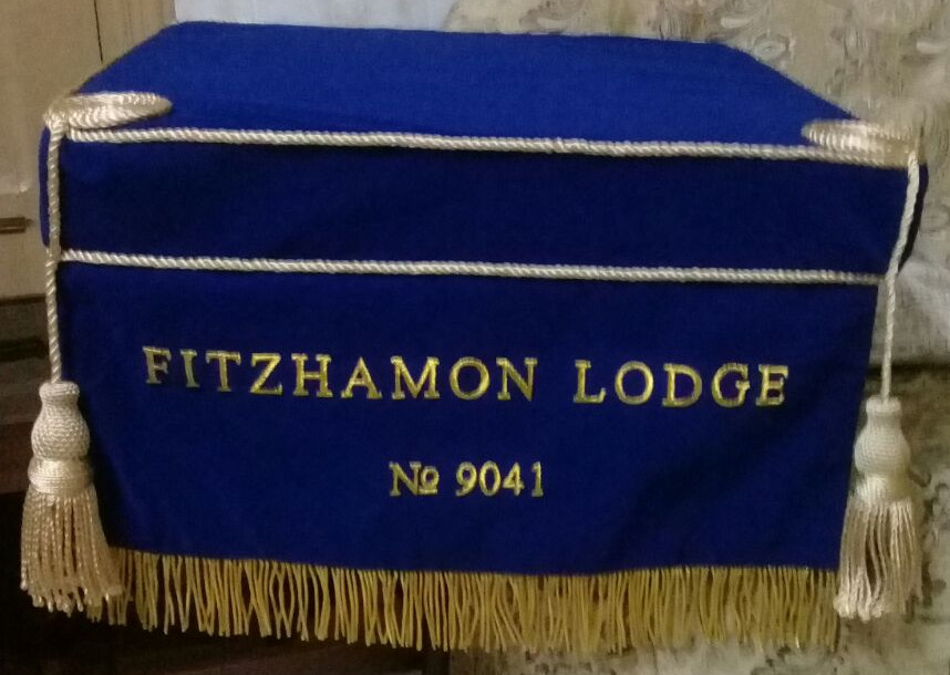 Craft Lodge Bible Cushion & 300mm Dropfall with Lodge Name & No.