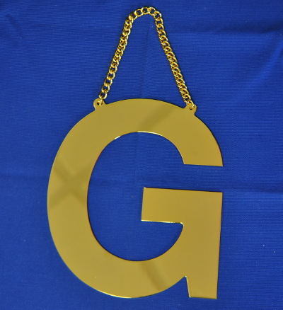 Brass G - with hanging chain (8 inch)
