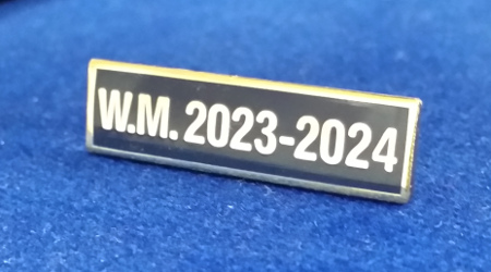 Breast Jewel Middle Date Bar 'WM 2023-2024 - Gilt on Blue Enamel