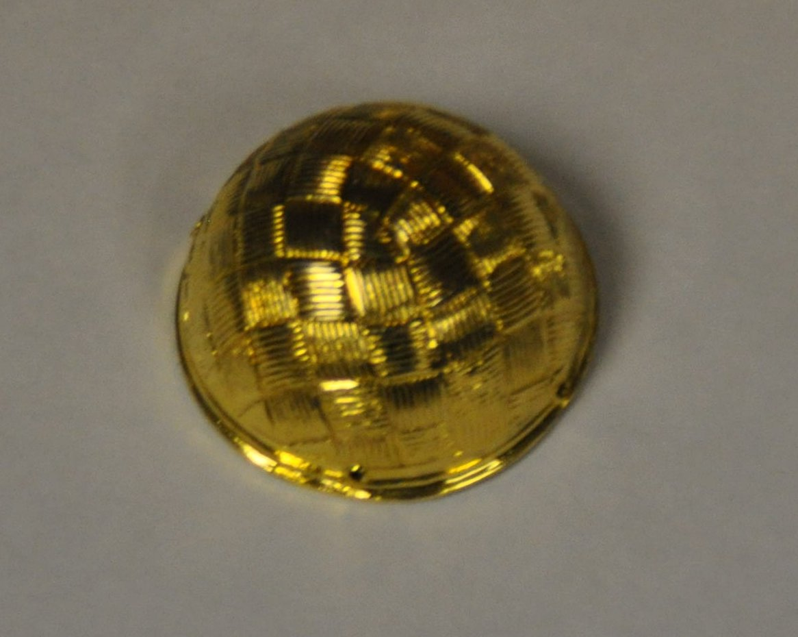 Button Collar Dome - Gilt