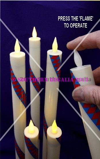 Royal Arch Chapter Candles Large [set of 3] Battery Operated