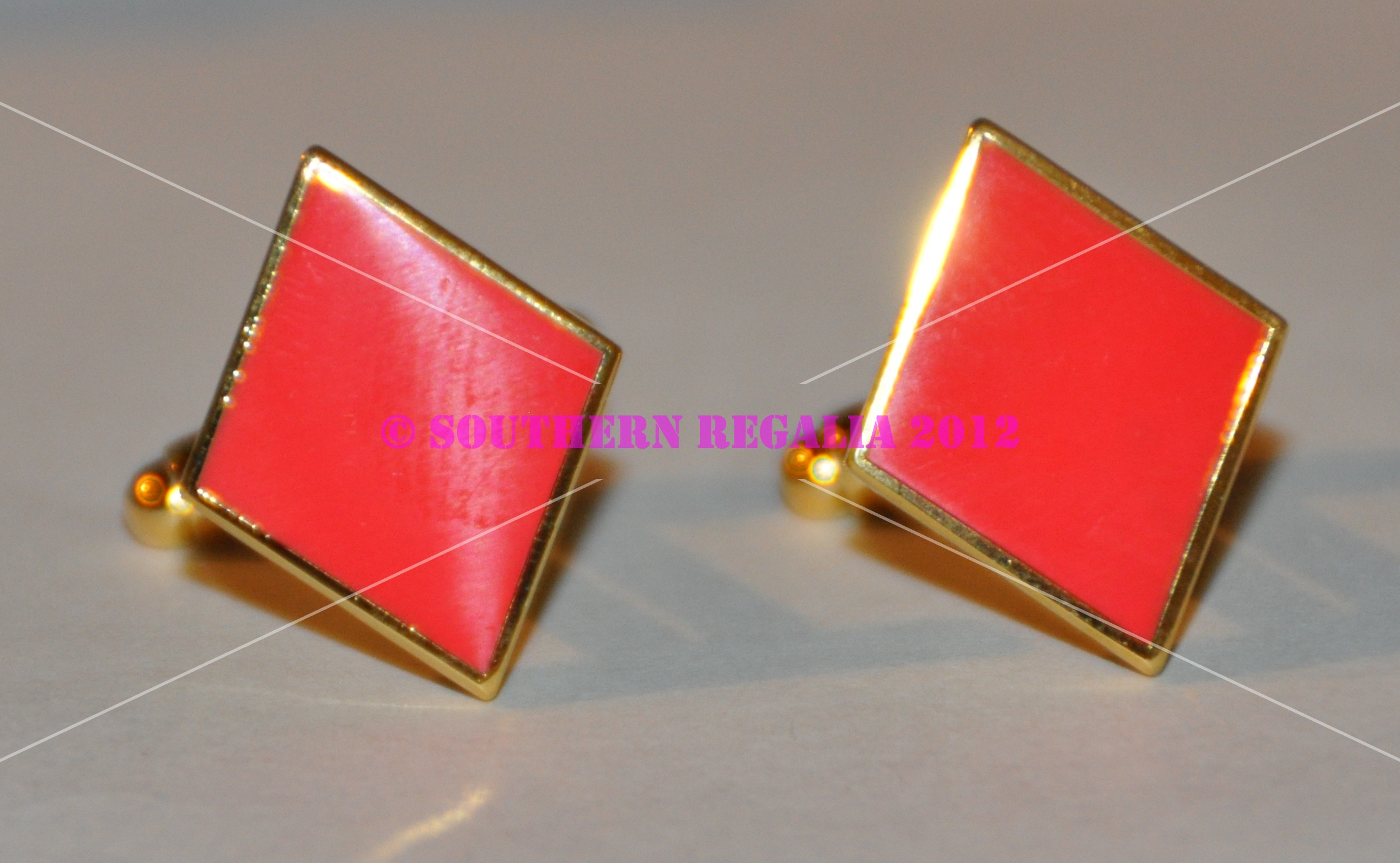 Playing Card - Diamonds Gold Plated Cufflinks