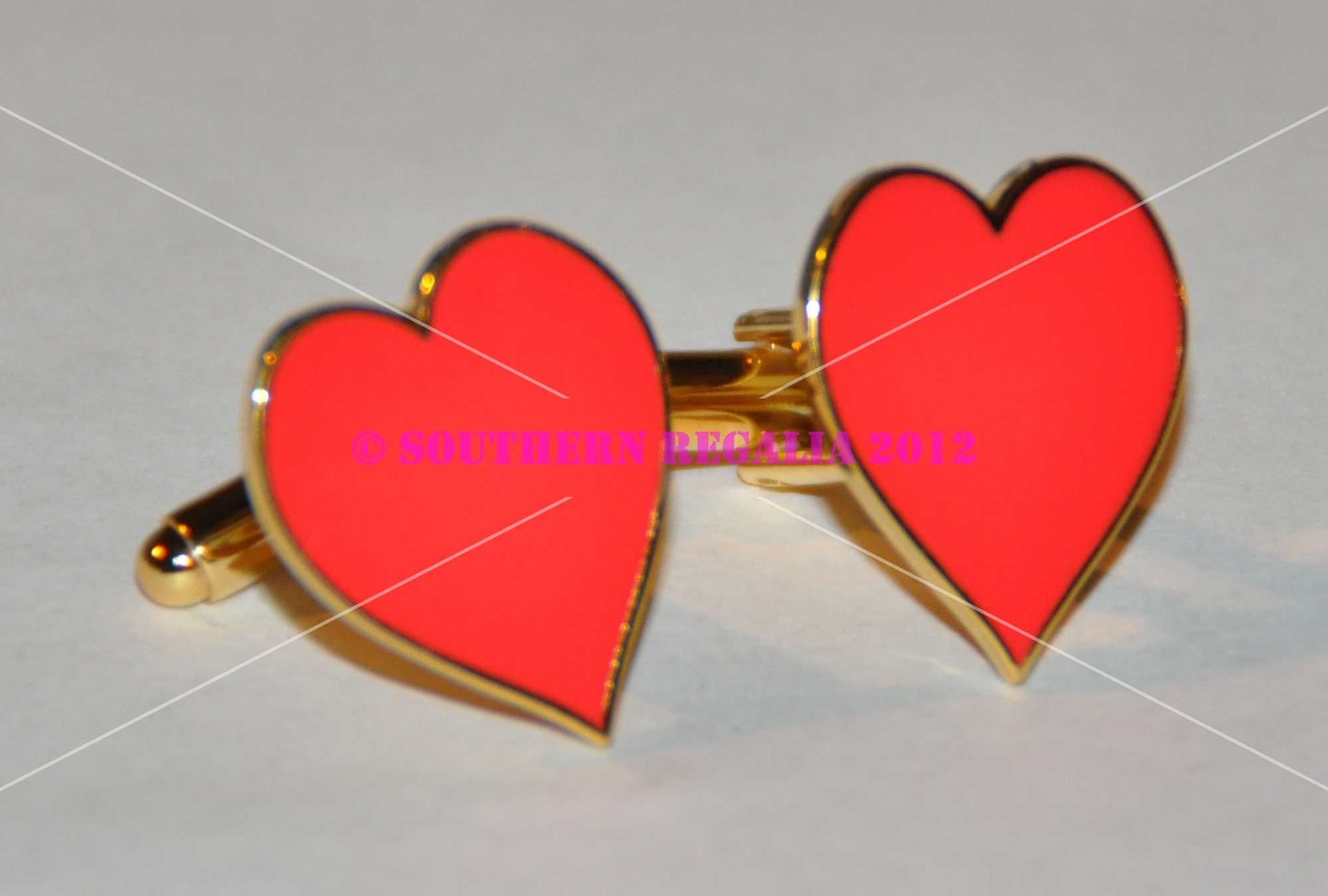 Playing Card - Hearts Gold Plated Cufflinks