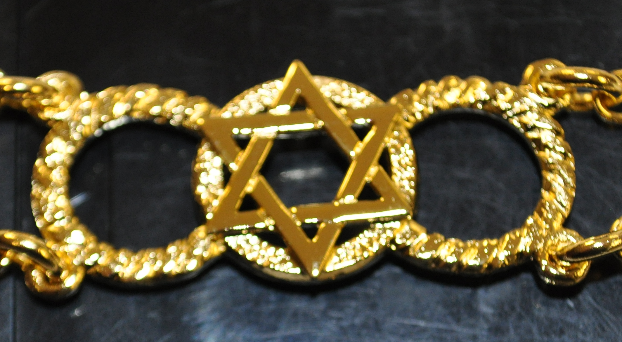 Craft Chain Metalwork - Star of David with OOO - Gilt