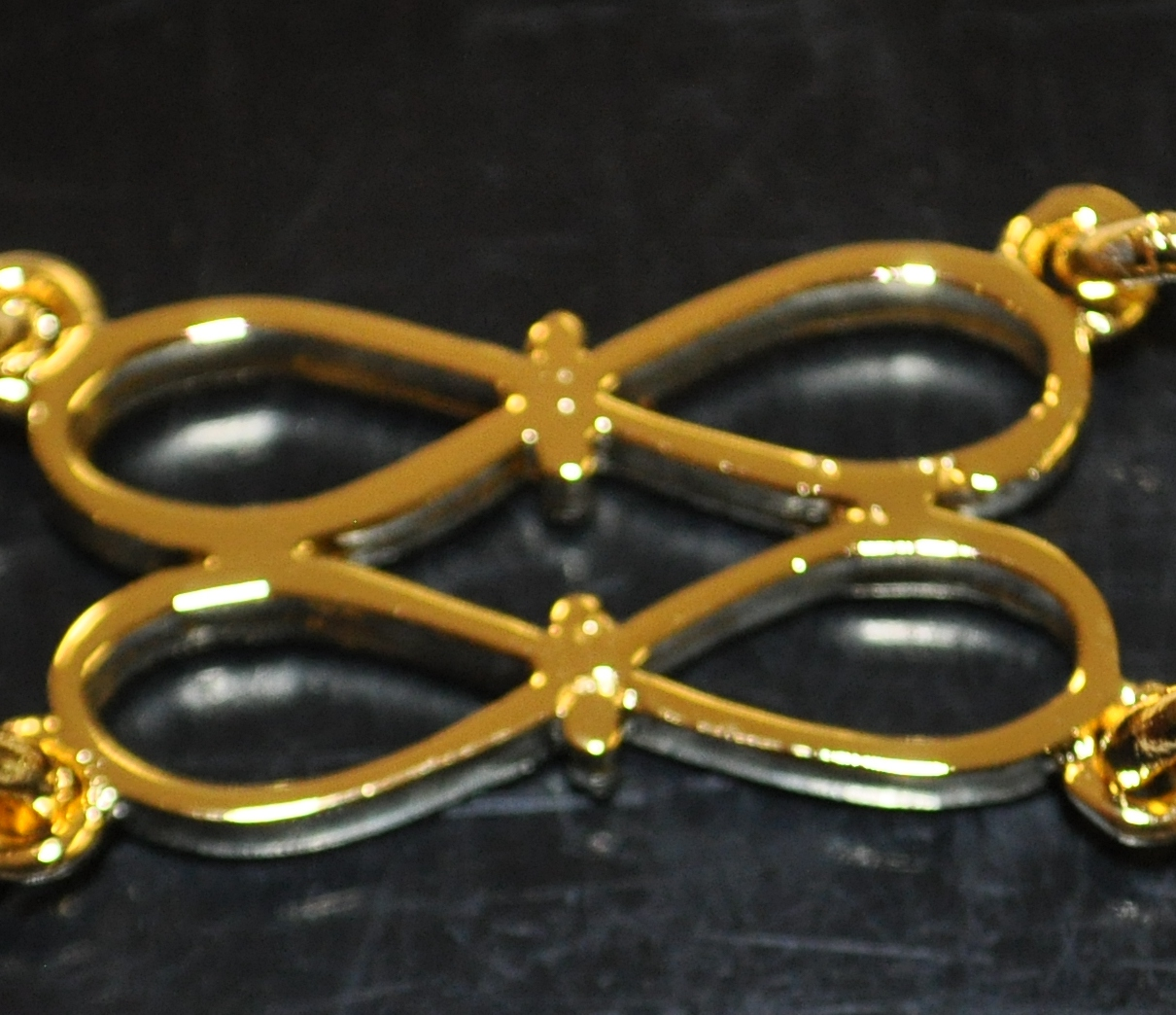 Craft Chain Metalwork - Double Bow - gilt
