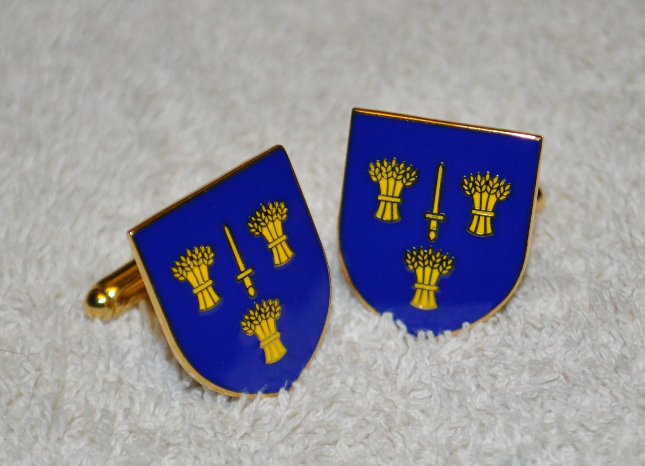 Cheshire Flag Gold Plated Enamel Cufflinks