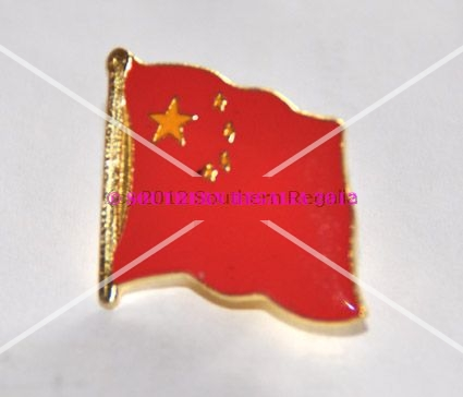 China Flag Enamel Lapel Pin