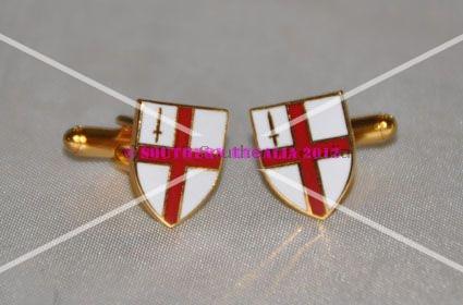 Calne City England Gold-tone Flag Cufflinks
