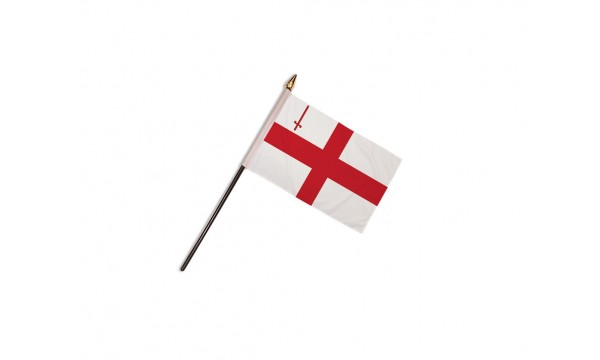 City of London Flag (Table Top) with stick