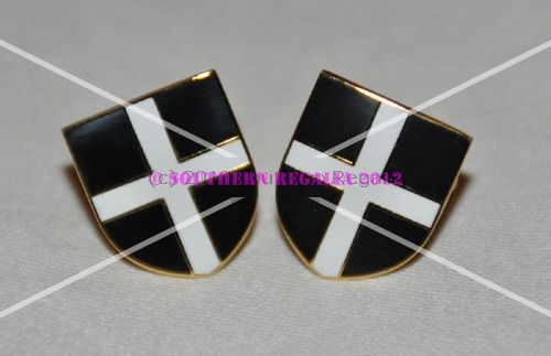 Cornwall Flag Gold Plated Enamel Cufflinks