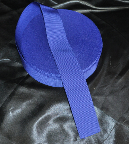 Craft Dark Blue Ribbon (Belt Ribbon) - 50 mm (per meter)
