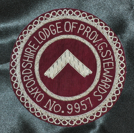 Craft Provincial Grand Stewards Lodge Officers Apron Badge - Maroon