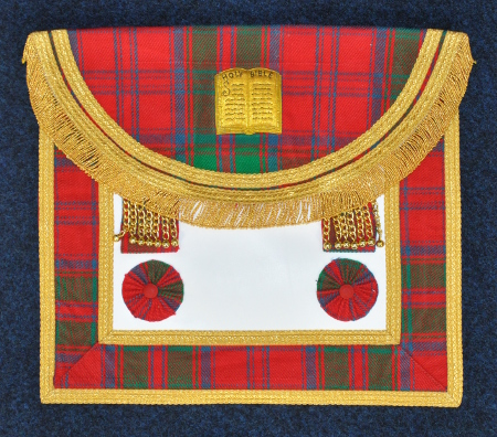 Craft Lodge Officers Apron - quad border - Scottish [SCR015