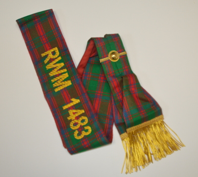 Craft Lodge Sash - Scottish