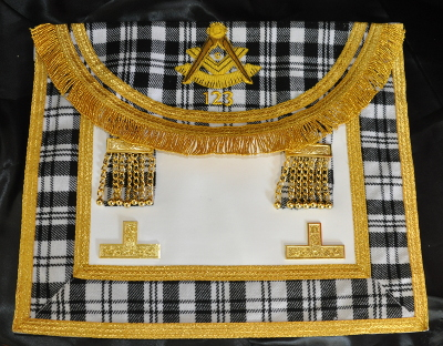 Craft Past Masters Apron - quad border - Scottish
