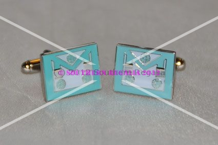 Craft Master Masons Apron Enamel Cufflinks