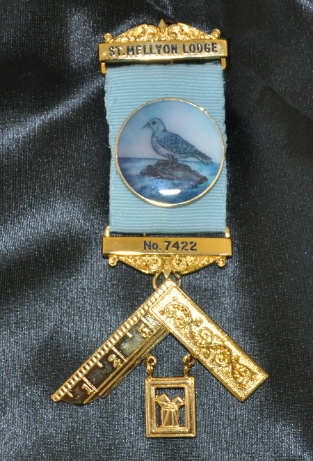Craft Past Masters Breast Jewel (i) - Enameled Letters with Bespoke Crest on Ribbon