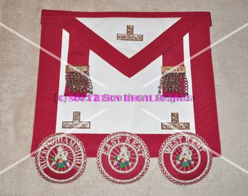 Provincial Stewards Apron [Metal Levels] & Badge - Standard - Magenta