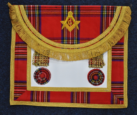 Craft Royal Stewart Tartan Master Masons Apron