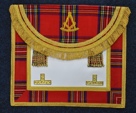 Craft Royal Stewart Tartan Past Masters Apron