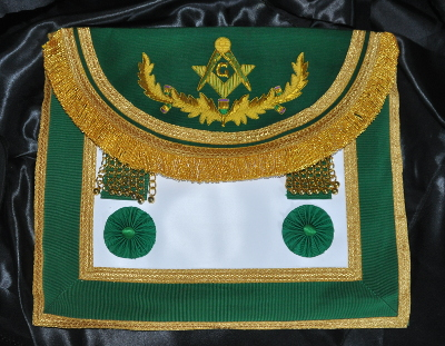 Craft Royal Thistle Green Master Masons Apron