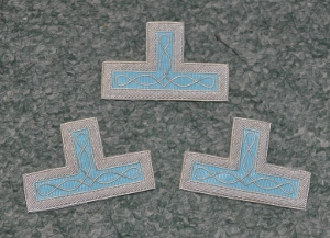 Craft Master or Past Master Embroidered Apron Levels [set of 3]