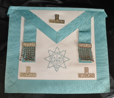 Craft Worshipful Masters Apron - Leather - Embroidered Lodge Logo