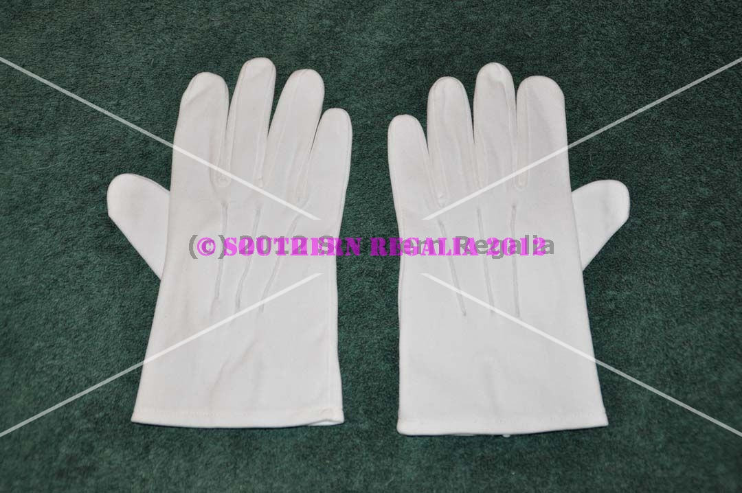 White Cotton Gloves (Extra Large)