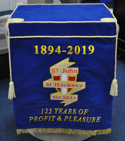 Craft Lodge Bible Cushion & 600mm Dropfall with Lodge Crest